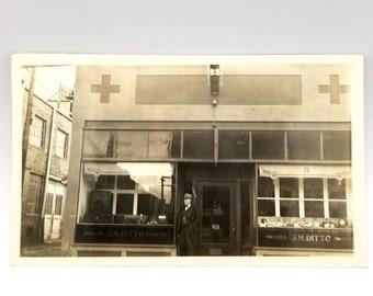Photo of J. M. Ditto, jeweler and optometrist, in Monte Vista, Rio Grande County, Colorado
