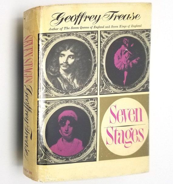Seven Stages by Geoffrey Trease 1st edition Hardcover HC w/ Dust Jacket 1964 Wm Heinemann - British Theater Biographies