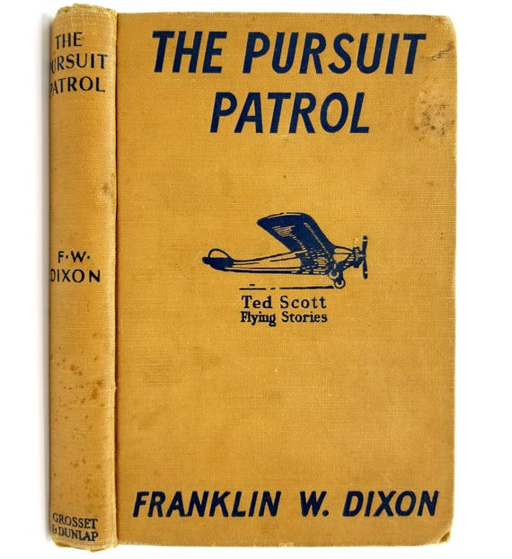 The Pursuit Patrol or Chasing the Platinum Pirates Franklin W. Dixon 1943 Grosset & Dunlap - Hardcover HC - YA Juvenile Fiction
