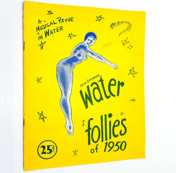 Sam Snyder's Water Follies of 1950 Show Program Synchronized Swimming Diving