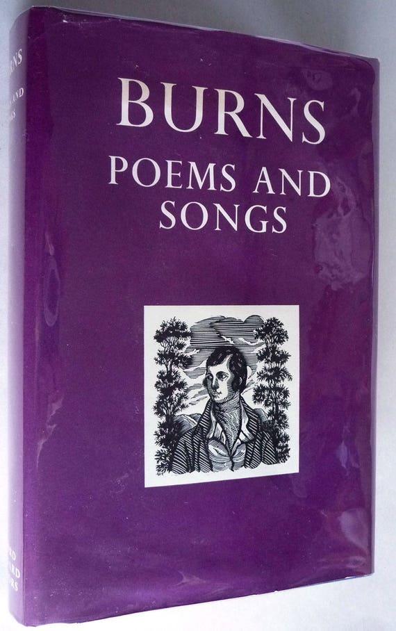 Burns Poems And Songs 1969 By Robert Burns Hardcover Hc W Dust Jacket Dj Oxford Univ Press London Poetry Verse