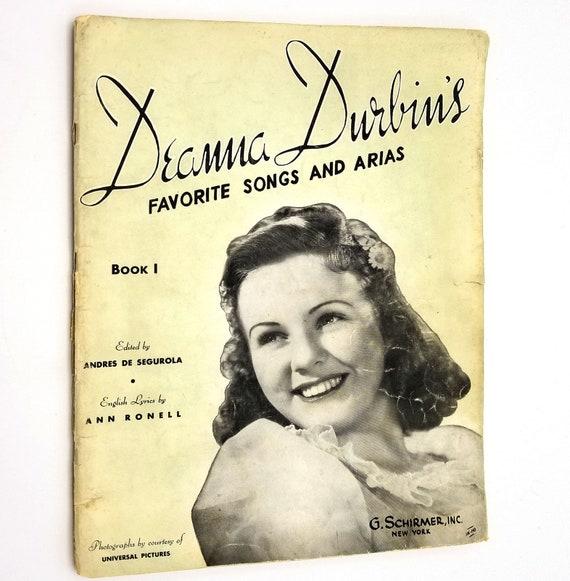 Deanna Durbin's Favorite Songs and Arias 1939 G. Schirmer, Inc. Sheet Music Songbook