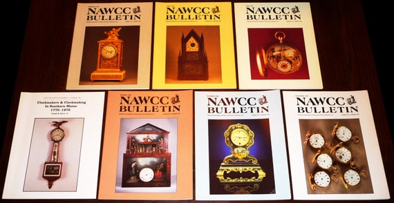 Bulletin of the National Association of Watch and Clock Collectors (NAWCC) 1989 Full Year + Supplement 17