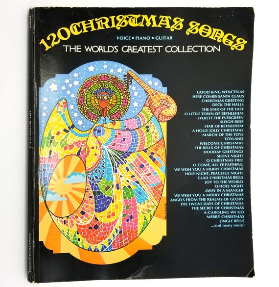 120 Christmas Songs (The World's Greatest Collection) Voice, Piano, Guitar 1987 Columbia - Lyrics, Chords, Music - Songbook