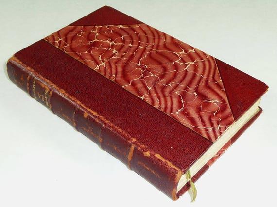 Sur La Branche - 1903 novel - Pierre de Coulevain alias of Jeanne Laperche - Antique Fine Binding Marbled Papers French Language