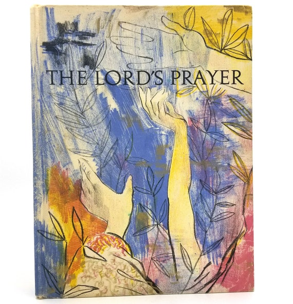 The Lords Prayer illustrated by Charles Mozley Hardcover HC 1960 Franklin Watts - Children Bible Religion Christian