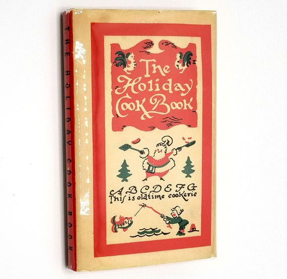 The Holiday Cook Book 1950 Peter Pauper Press - Hardcover HC w/ Dust Jacket DJ - Recipes Cookbook