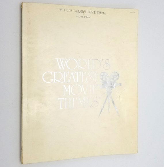 World's Greatest Movie Themes (Piano Solos) Ca. 1977 Big 3 Music Corporation