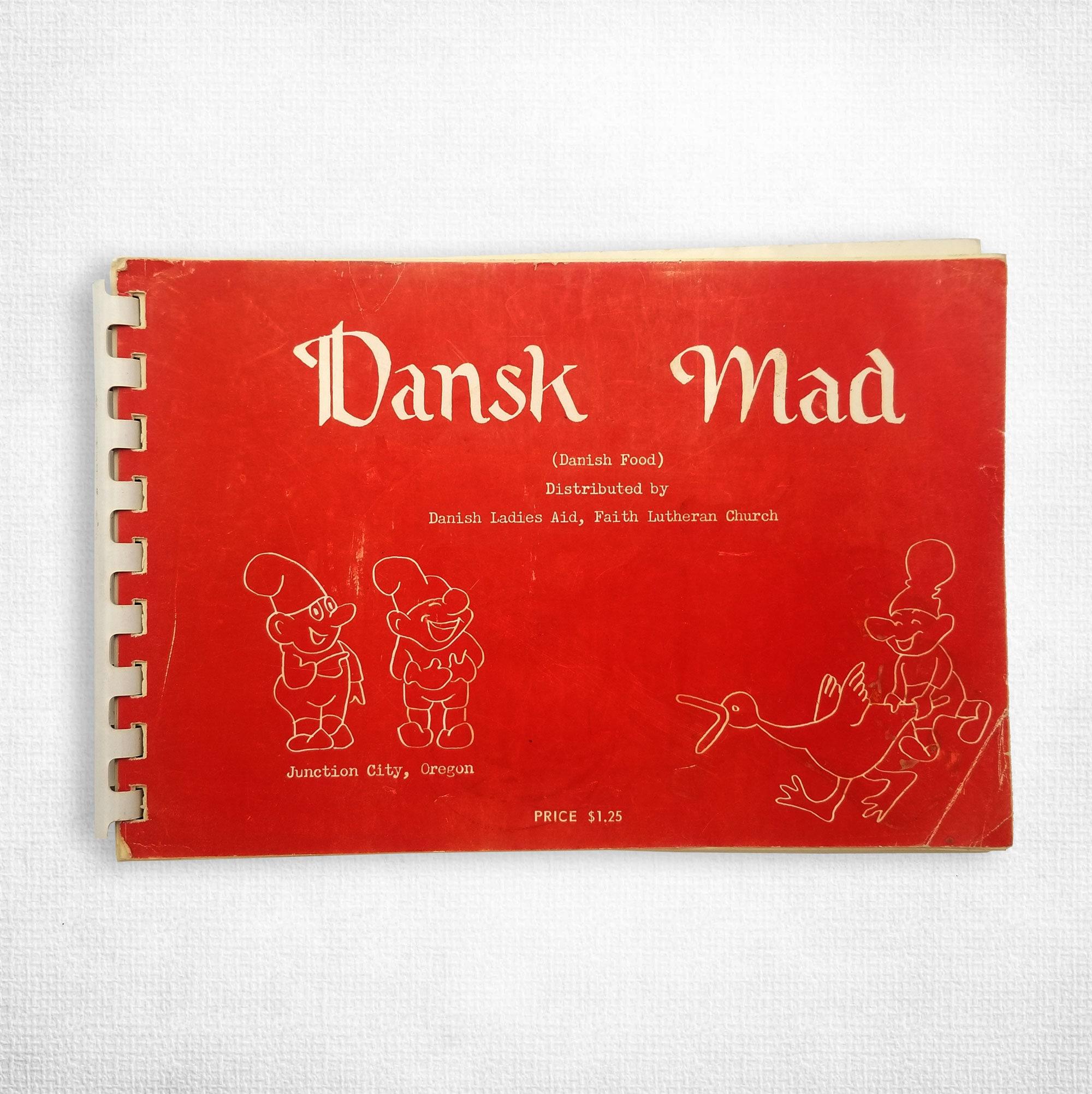 Vintage Cookbook: Dansk Mad (Danish Food) By Faith