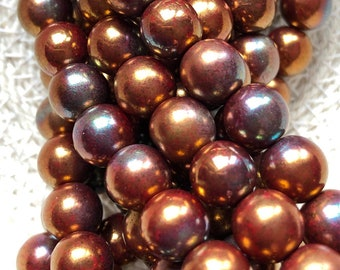 Jewelry picasso opaque 5-20 grams #B9320 8x5mm Kumihimo BRONZE LUSTER Opaque RED, 2 hole blue bronze GemDuo Beading G52