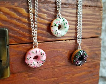 Go nuts for doughnuts necklace