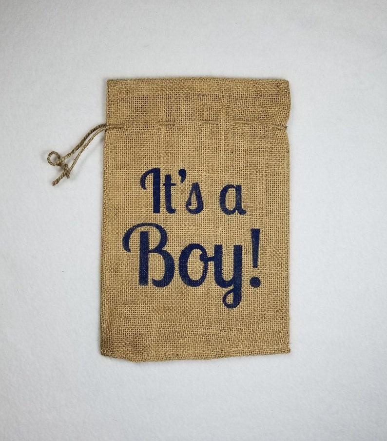 Burlap Bag It's a Boy Burlap Bags Burlap Gift Bags image 0
