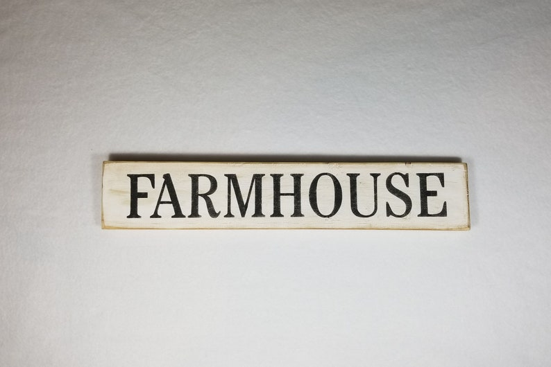 Handpainted Wood Sign Farmhouse Typography Word Sign Painted image 0