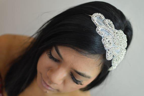 Sparkling Silver Bridal Headband  Wedding Diamante Hairpiece    9cbc5ec5e1c
