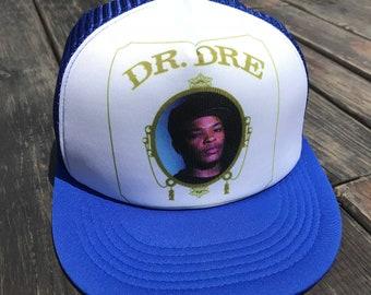 de47355adc6 Trucker Hat Cap SnapBack Dr Dre Hiphop Adjustable Strap (blue blue)