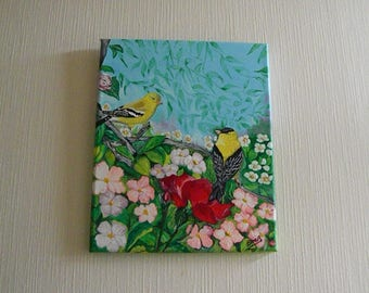 GOLDFINCH YELLOW in chalkboard