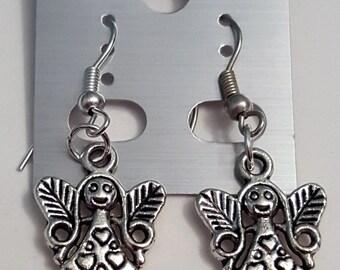 Tibetan Silver Girl/Fairy Earrings