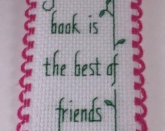 A good book is the best of friends, hummingbird bookmark