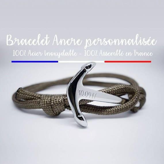Bracelet couple personnalisé en acier inoxydable