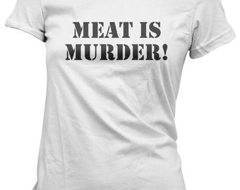941b0e0fa9d686 Meat Is Murder Vegetarian Vegan Animal Rights T-Shirt