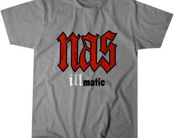 0fdb8be55 NAS ILLMATIC Hip-Hop Rap Tee T-Shirt