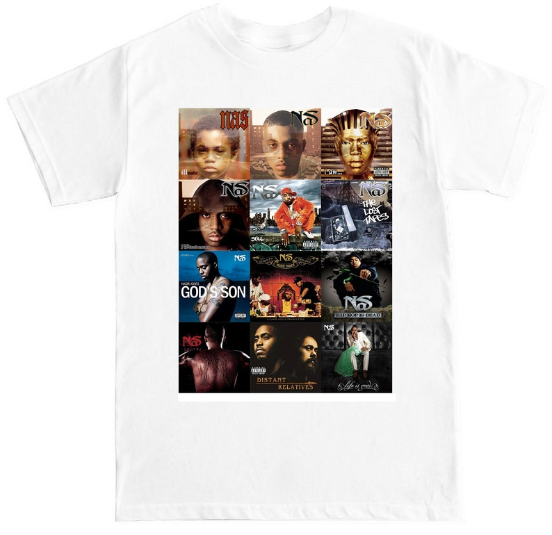 407a1831 NAS ALBUM COVERS Hip-Hop Rap Tee T-Shirt   Etsy