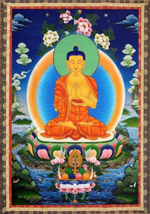 Buddha Shakyamuni Portrait Art Silk Poster 12x18 24x36
