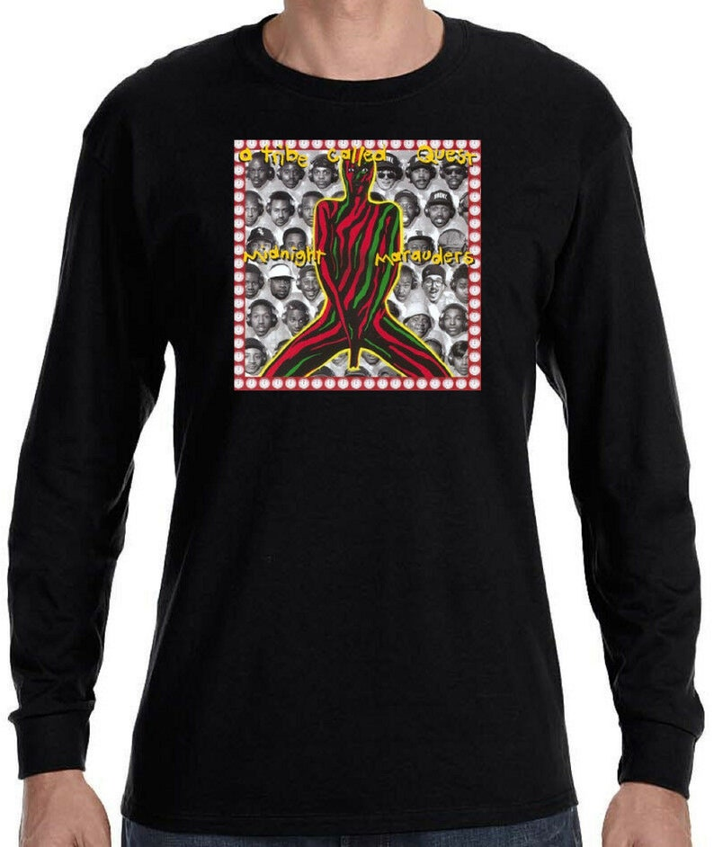 A TRIBE CALLED QUEST The Low End Theory Long Sleeve Black T-Shirt Size S-3XL