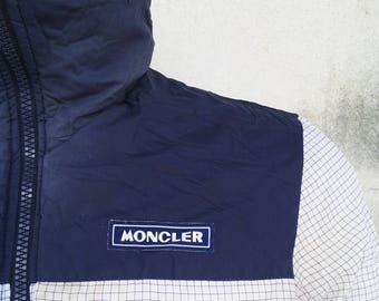Vintage 90s MONCLER Ski Wear Zipped Up Reversible Puffer Jacket / Moncler / Winter Jacket / Size M