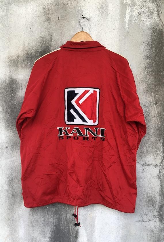 90's KANI SPORTS Side Tape Big Logo Jacket Vintage Karl Kani Streetwear Jacket Side Tape Jacket Size XL