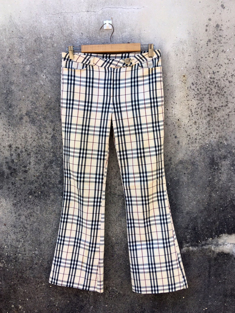 d24181897704cd VINTAGE BURBERRYS London Plaid Nova Check Bootcut Pant Large | Etsy