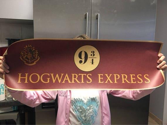 "Platform Harry Potter Movie Retro Poster 28/""x10/"" Nine and Three Quarters 9 3//4"