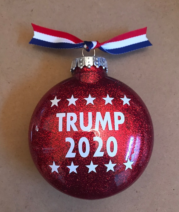 Trump Christmas Picture 2020 2 sides trump christmas ornament | Etsy