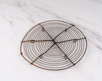 Rustic wire trivet Wire cooling tray Wireframe Rustic wirework Kitchen ware Wire cooling tray Pot stand Vintage wire cooling rack