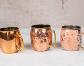 Vintage Weathered Moscow Mule Cups-Food Photography Props Food Styling Prop Styling