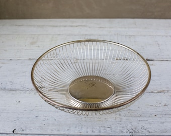 Vintage metal bowl-basket-Food Photography Prop