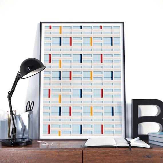 Poster Plakat Grafik-Design Architektur Le Corbusier S04 vollständige  Abbildung