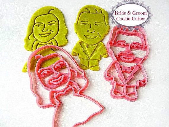 Very Fast Turnaround Time Custom Cookie Cutter Design Based on Portrait