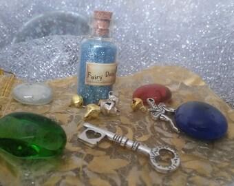 Fairy Tale Princess Treasure Kit with Fairy Dust, Tiny Fairy Bells, Party Bag