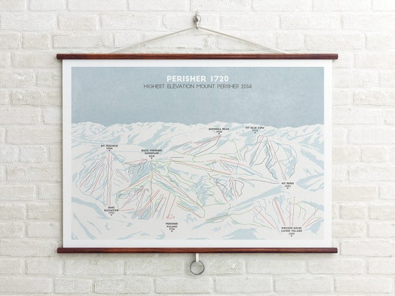 Perisher Ski Piste Map Australia Ski Map Ski Art Snowboard Art Ski Gifts Gifts For Him Or Her