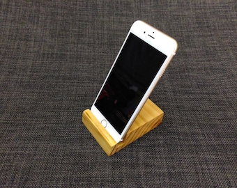 Minimalist iPhone Stand / Wood iPhone Stand / Wood phone holder / wood iPhone dock / hardwood phone stand / Gift Idea / Gift For Dad