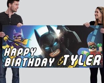 Customized Happy Birthday Banner Design - Lego Batman 2