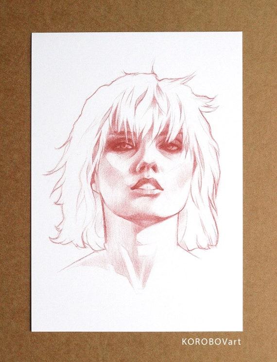 1 Blondie Print American Rock Band Picture Debbie Harry Singer Music Poster