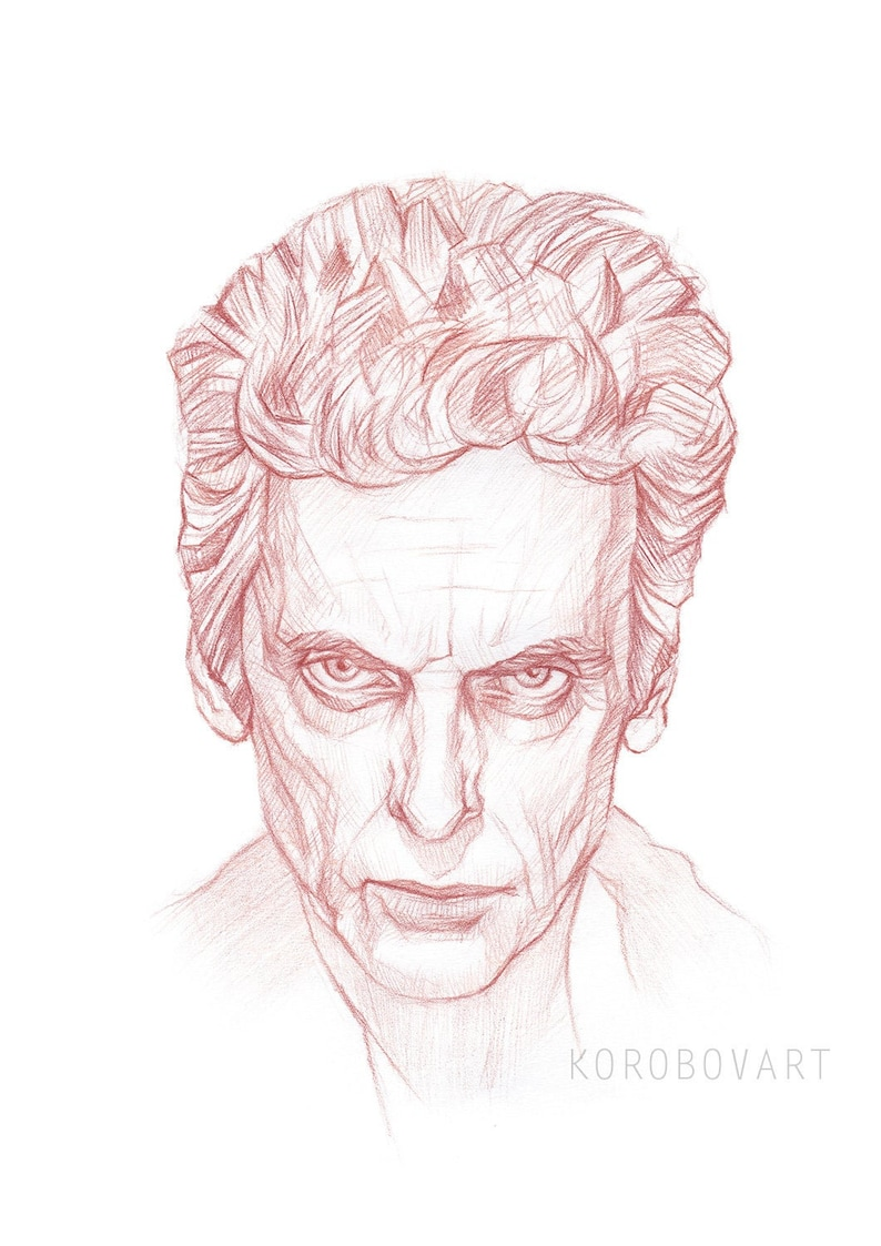Twelfth Doctor Who Art Print Peter Capaldi Art 12th Doctor Etsy