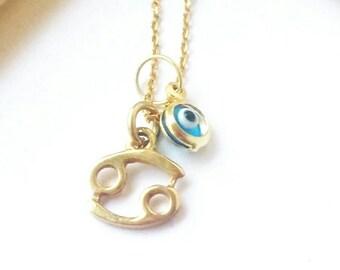 Cancer zodiac necklace etsy zodiac jewelry astrology jewelry zodiac necklace cancer sign sterling silver zodiac birthday gift cancer star sign aloadofball Gallery