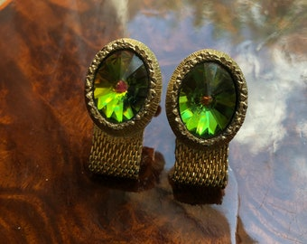Vintage SWANK Watermelon Rivoli wrap around Cufflinks