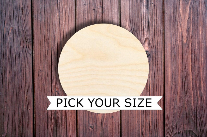 Wooden Circle pick your size DIY projects coasters painting image 0