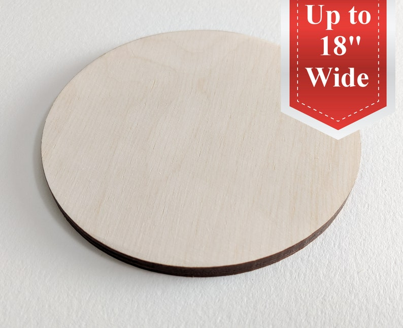 Wooden Circle cutout up to 18 multiple sizes for DIY image 0