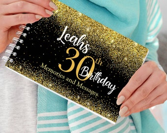 30th Birthday Male Guest Book and Photo Album Keepsake Gift HP10130