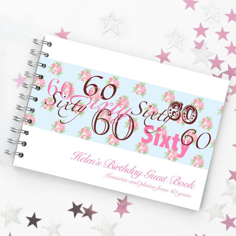 Personalisierte 60 Geburtstag Gästebuch 60 Geburtstag Etsy